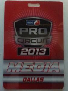 My press pass to MLG Dallas