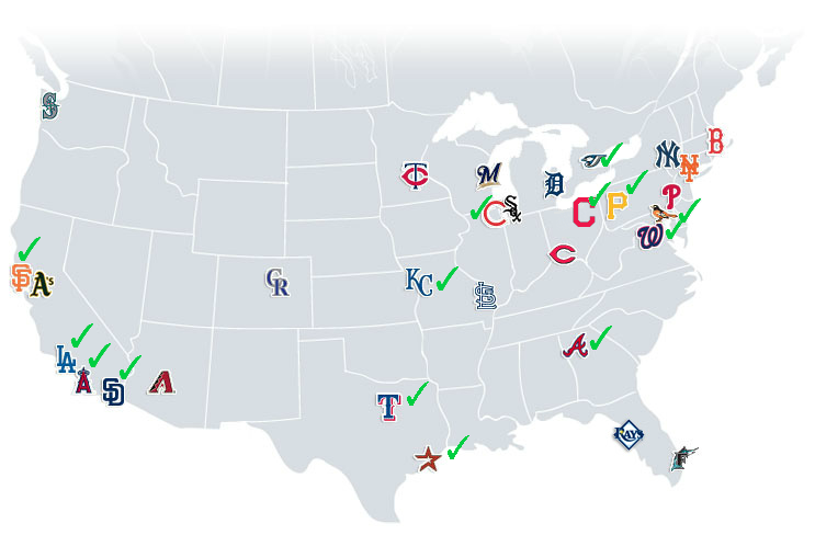 Baseball Map Aug 2014