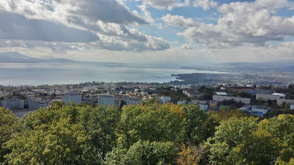 Lausanne, as seen from the Sauvabelin Tower