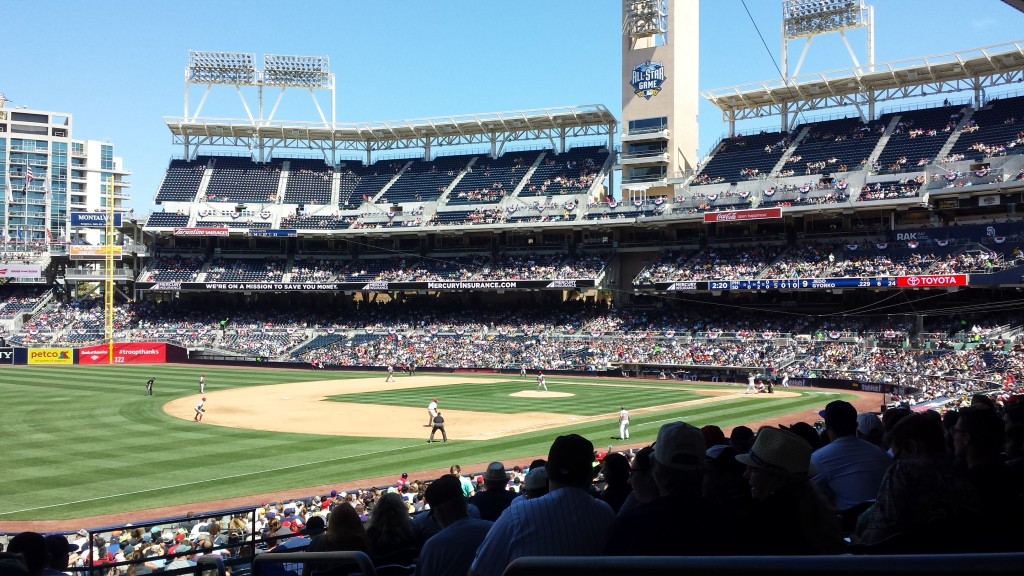 The Padres facing off against the Phillies