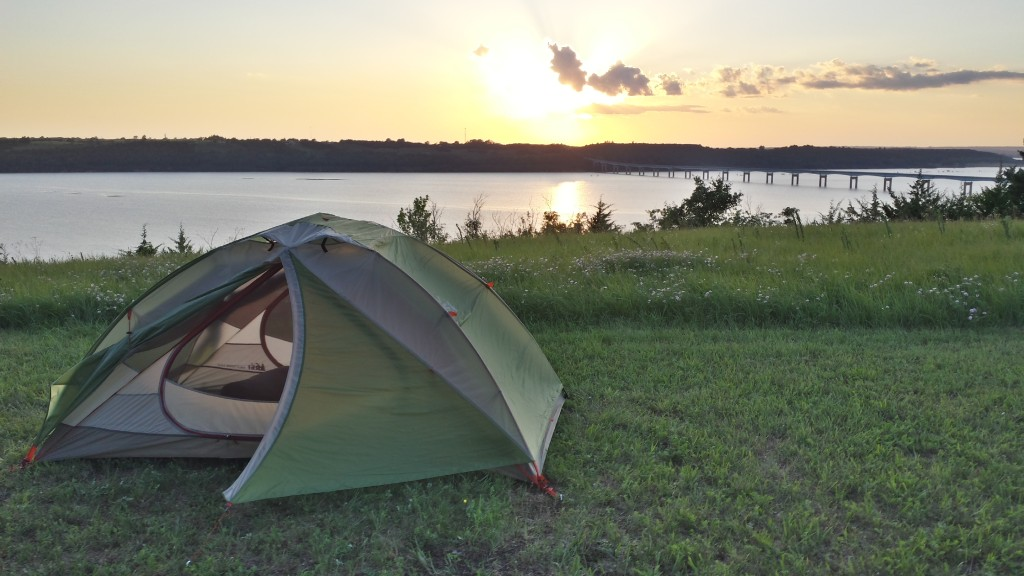 My tent at sunset