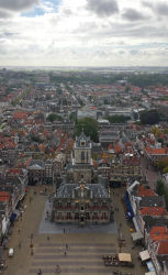 Another view of the Delft town hall from the Nieuwe Kerk's belltower, showing more of the city (looking southwest)