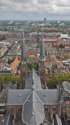 Maria van Jessekerk, as seen from the Nieuwe Kerk's belltower (looking south)