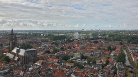 Delft, sky, and the Nieuwe Kerk