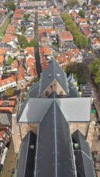 The Nieuwe Kerk itself, viewed from its belltower's highest level.