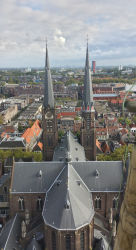 Maria van Jessekerk, viewed from the middle balcony on the Nieuwe Kerk's belltower