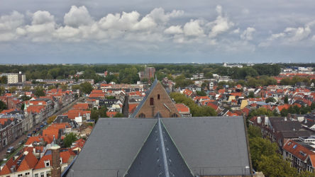 Sky, Delft, and the main portion of the Nieuwe Kerk