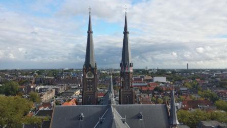 Through the towers of the Maria van Jessekerk