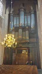 The church's large pipe organ.