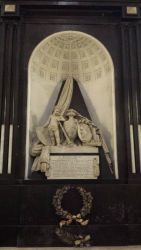 The tomb of Hugo Grotius.