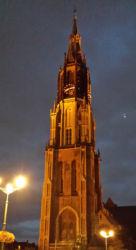 The Nieuwe Kerk at night