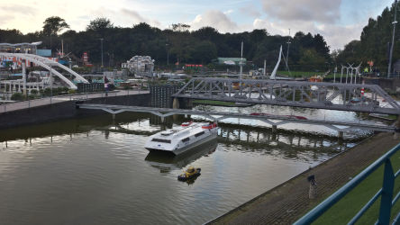 Madurodam's river and a number of its structures.
