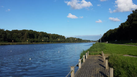 The Bosbaan, a rowing lake located in Amsterdamse Bos (Amsterdam Forest)