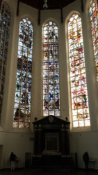 Stained glass in the Oude Kerk