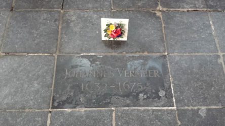 The grave of the famous painter Johanne Vermeer