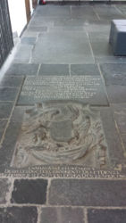 "The grave of Antonie van Leeuwenhoek, the ""Father of Microbiology"""