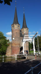 This is the Oostpoort, or Eastern Gate, in Delft. It was built near 1400, and is now a private residence.