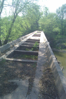 A bridge from the interurban railway