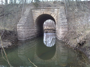An old, cool stone bridge