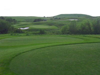 The third hole of the Colbert Hills executive (par three) course
